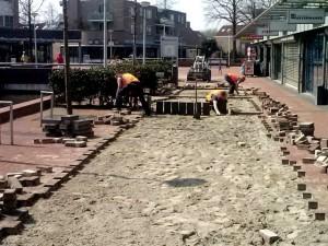 Voetpad opnieuw aangelegd