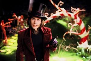 Johnny Depp als Willy Wonka
