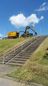 Maai machines aan de Oostdijk
