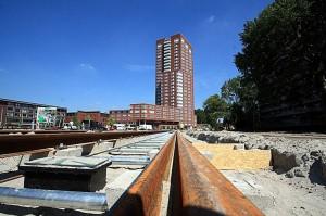 """Rails voor """"de Hooghmonde"""" in aanbouw"""