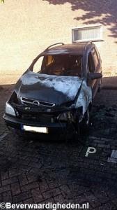 Autobrand aan het Hackfortdam