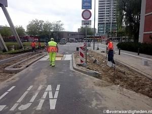 Voet/(brom)fietspad terug aan Grote Hagen