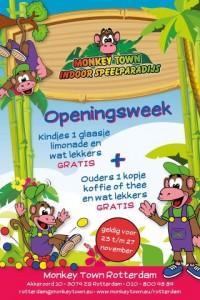 Monkey Town Rotterdam 23 november open