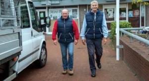 H. vd Weijden(l) en H.Kock(r)