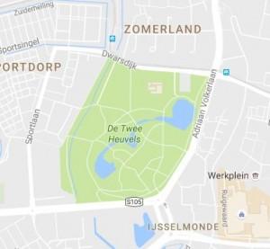 Huidige park situatie de twee Heuvels
